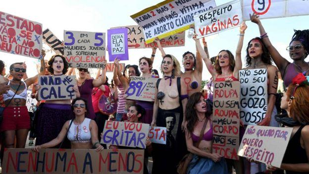 Manifestação em Brasília no dia 8 de março de 2017