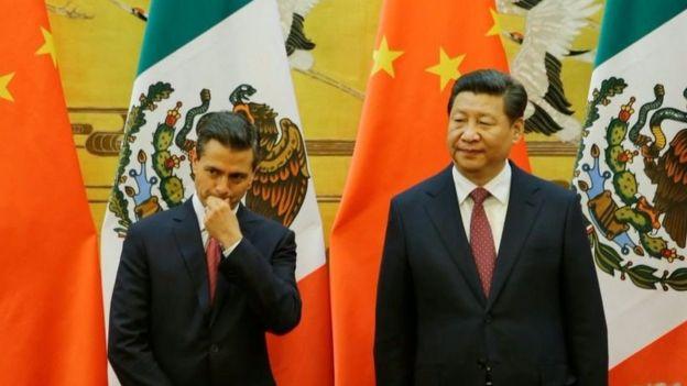 Los presidentes Enrique Peña, de México, y de China, Xi Jinping. Los países estaban distanciados.