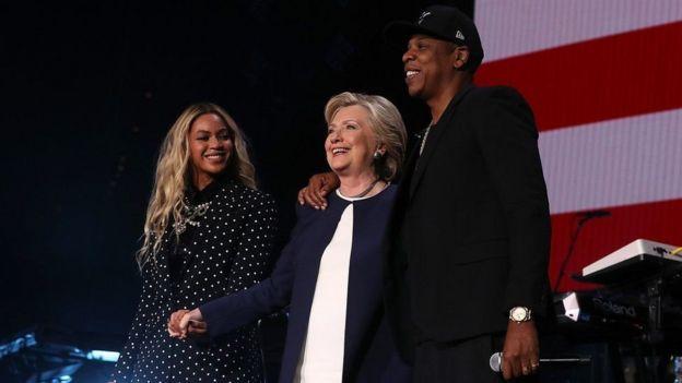 Bi Clinton aliungana na Jay Z na mkewe Beyonce katika jimbo la Ohio