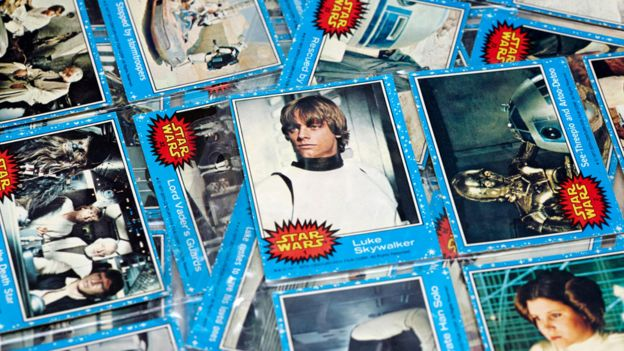 Star Wars cards from the 70s/80s