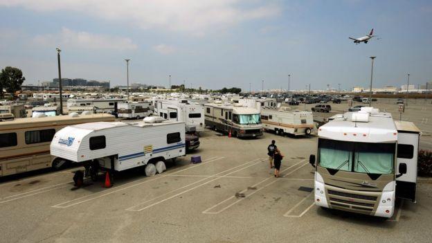Estacionamiento en el aeropuerto de Los Ángeles