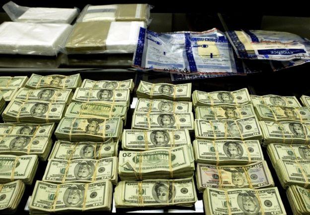 Dinero procedente de narcotráfico