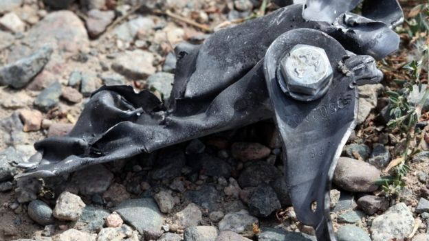 Bishkek embassy site, car vehicle shrapnel