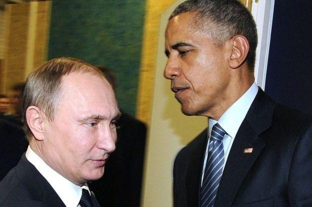 Rusya Devlet Başkanı Vladimir Putin ve ABD Başkanı Barack Obama