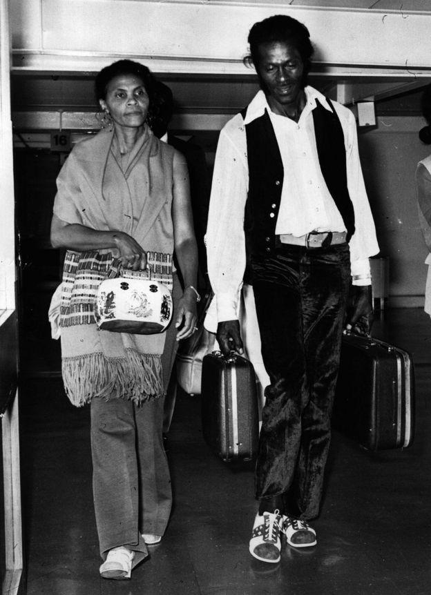 Чак Берри с женой