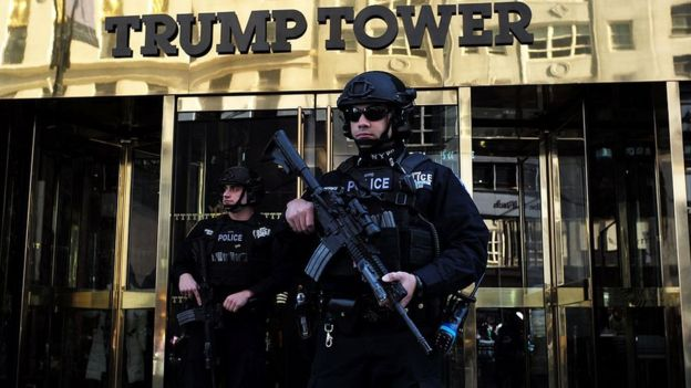 security outside Trump Tower