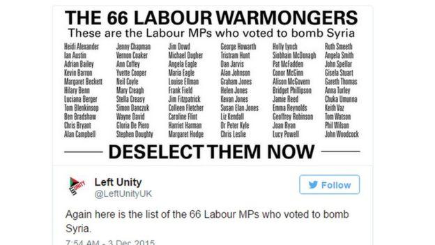Left Unity tweet