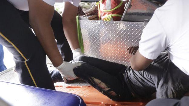 Herida del incidente en el albergue Hogar Seguro Virgen de la Asunción