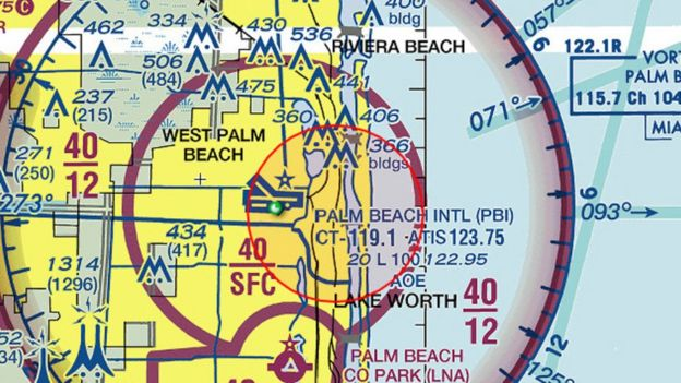 Mapa del tráfico aéreo