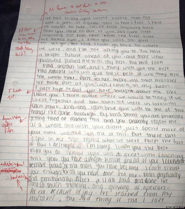 Tercera página de la carta.