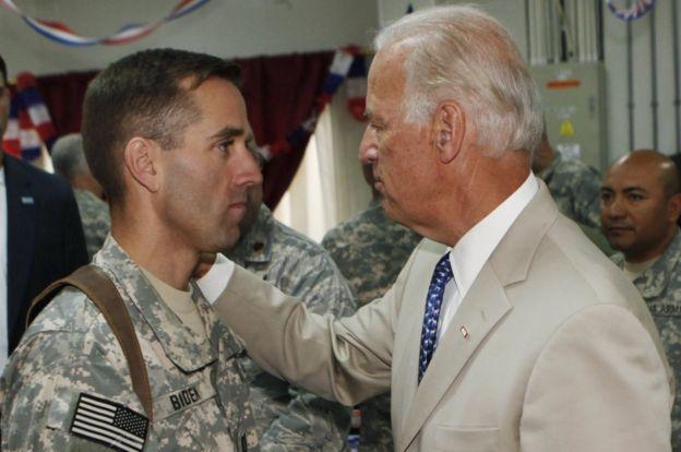 Beau Biden with father Joe