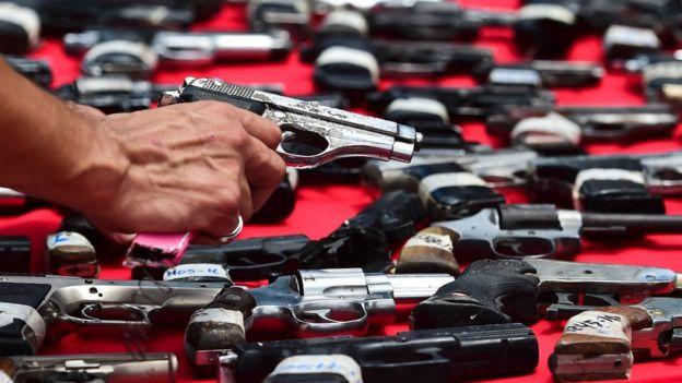 Armas decomisadas en Venezuela