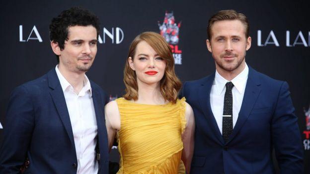Damien Chazelle, Emma Stone y Ryan Gosling