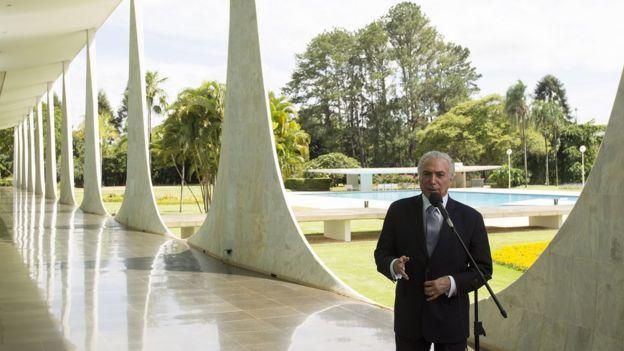 Presidente Michel Temer em Brasília