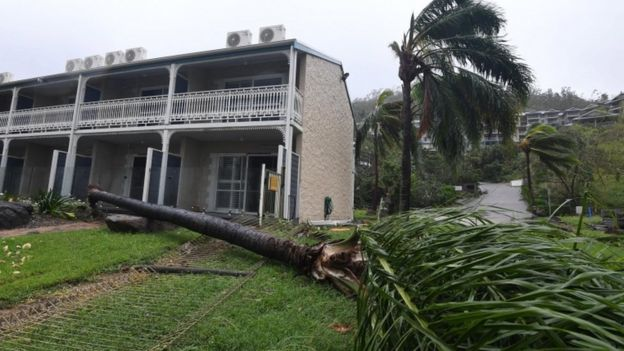Damage in Airlie Beach - the full extent may not be known for some time