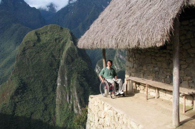 Ricardo Shimosakai em viagem ao Peru