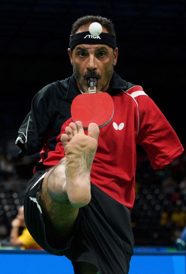 Ibrahim Hamadtou en acción.