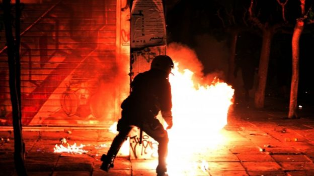 Violent Anti-American Protests Break Out in Athens Over Obama Visit