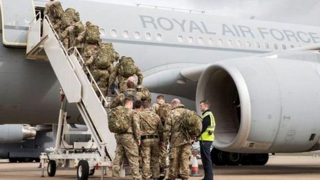نیروهای بریتانیایی