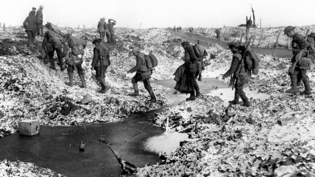 Soldiers at the Battle of the Somme