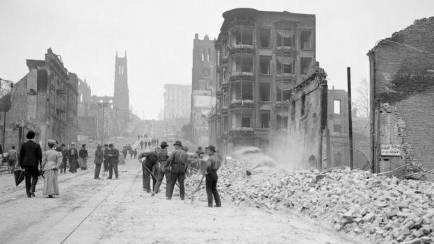 Imagen del terremoto de San Francisco de 1906.