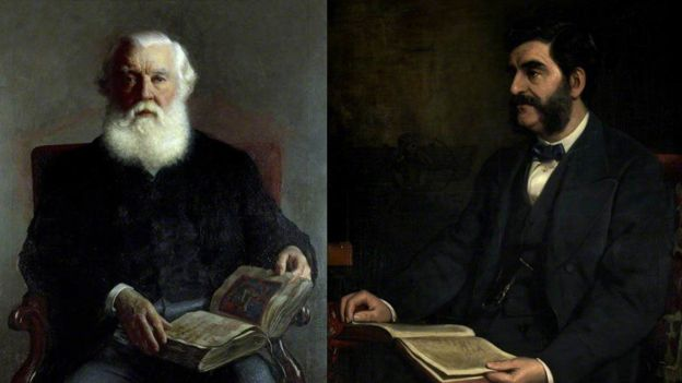 Paintings of Austen Henry Layard and Hormuzd Rassam