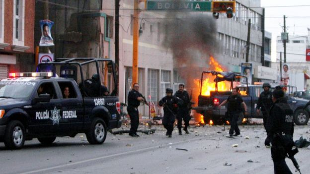 La policía tras un ataque en Ciudad Juárez (archivo).