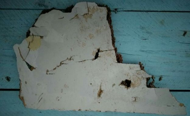 Piece of debris that has been found in Madagascar