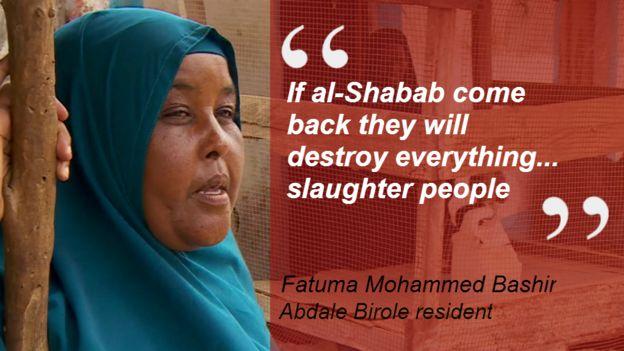 Quote from Fatuma Mohammed Bashir, a villager near Kismayo: