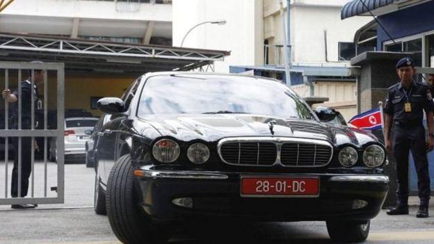 朝鲜使馆人员离开吉隆坡中央医院