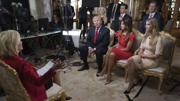 Entrevista de los Trump en el canal CBS
