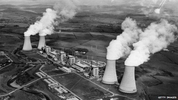 Aerial view of Sellafield in 1956