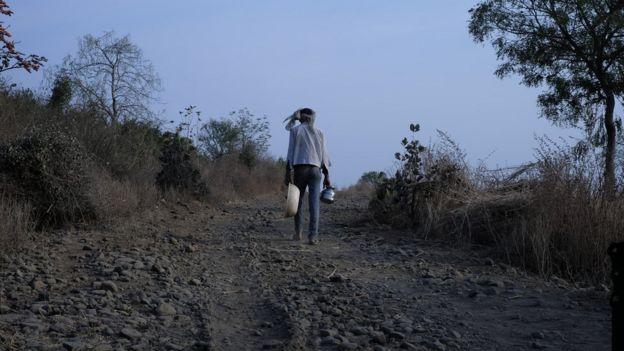 A parched farm in Maharashtra