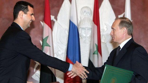 Presiden Bashar al-Assad dan Presiden Vladimr Putin