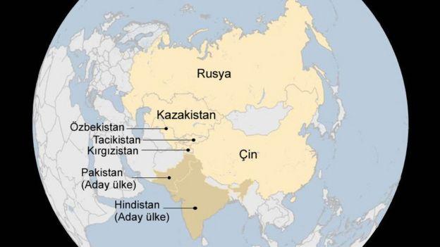 Şangay beşlisi haritası