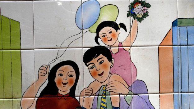Propaganda da política do filho único na China