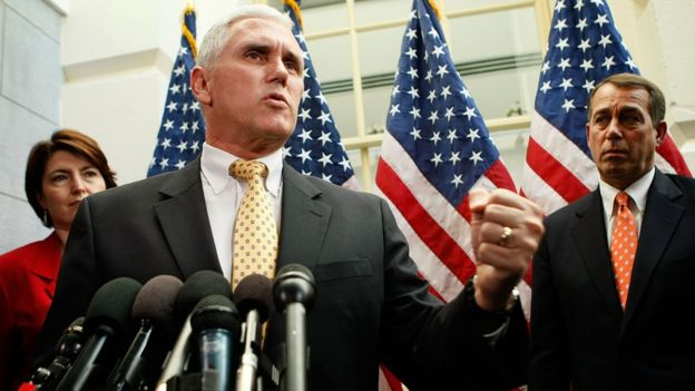 Mr Pence served in Congress for 12 years