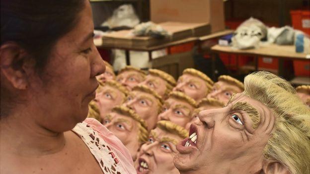 Máscaras de Trump