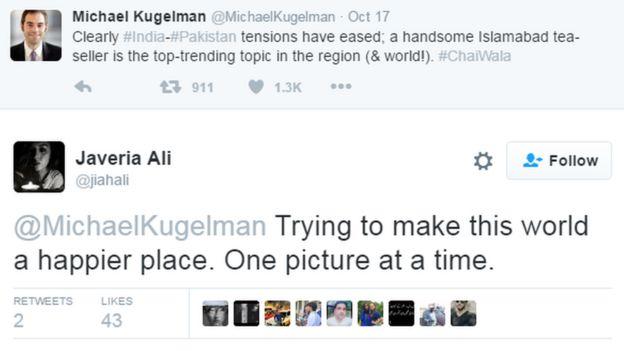 Un usuario de Twitter llamado Michael Kugelman escribió: