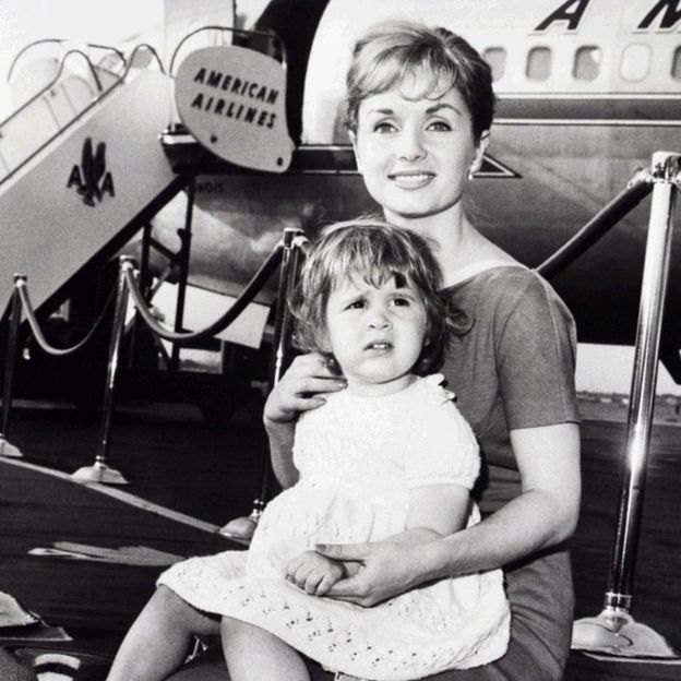 Carrie Fisher y su madre