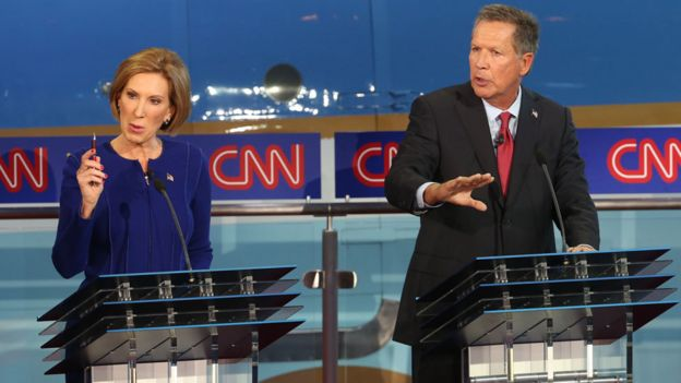 Carly Fiorina and John Kasich
