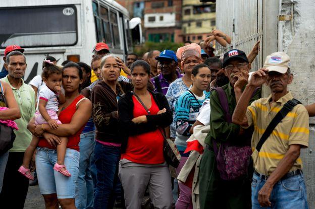 Personas en una fila