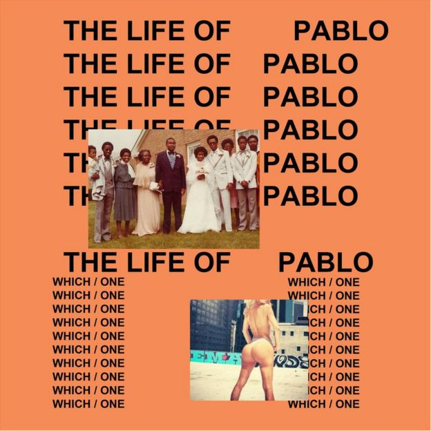 The cover for Kanye West's album, The Life Of Pablo