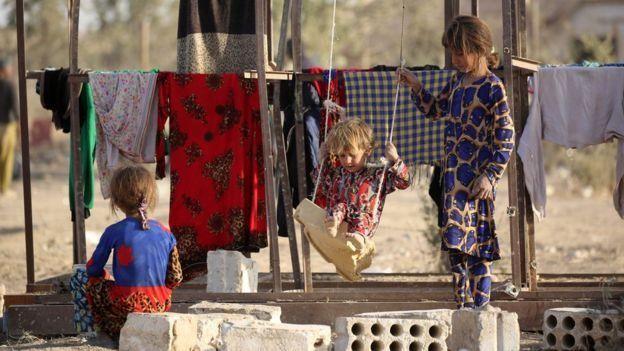 Musul'da mülteci çocuklar