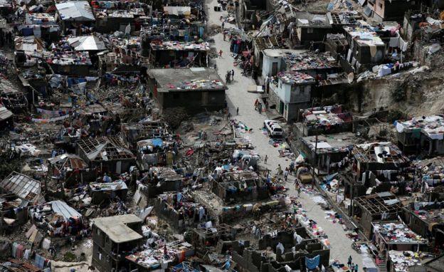 Casas destrozadas en Haití