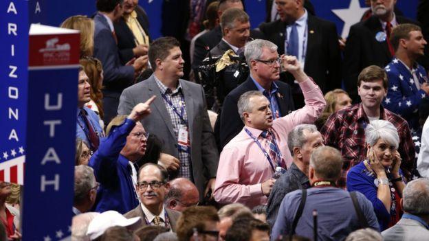 Delegados na convenção republicana