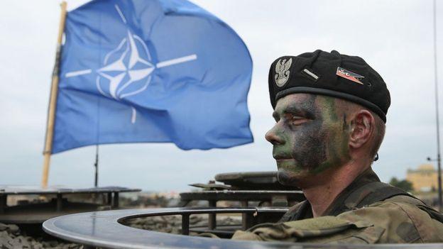 Soldado polaco en maniobras de la OTAN