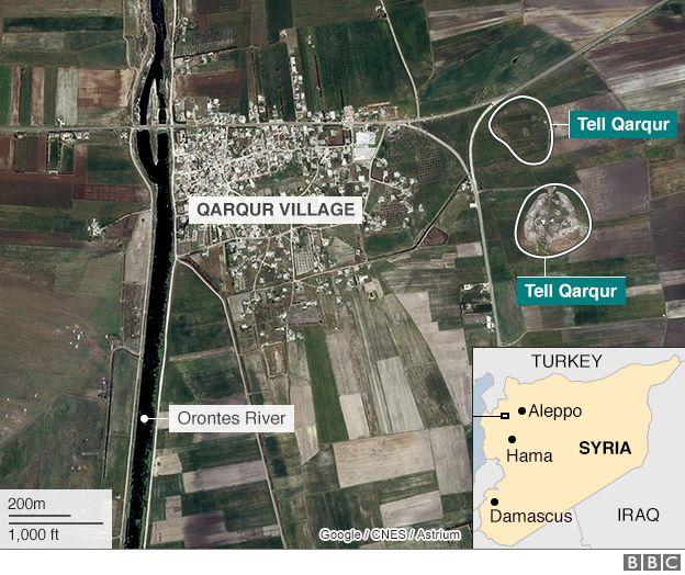 Map of Qarqur