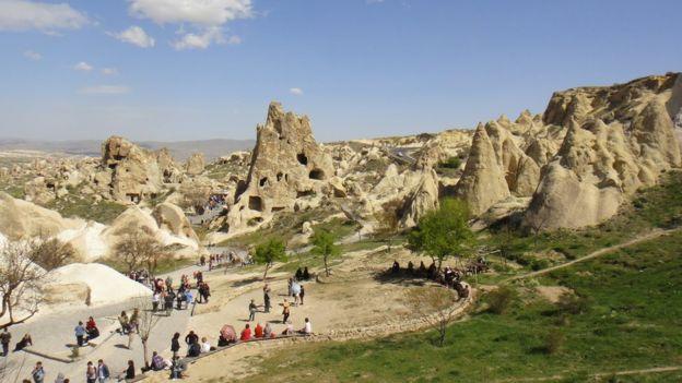 Kapadokya'da peri bacaları