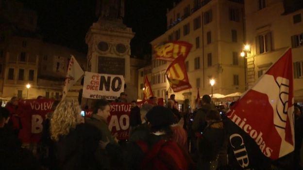 Celebraciones en las calles de Roma.